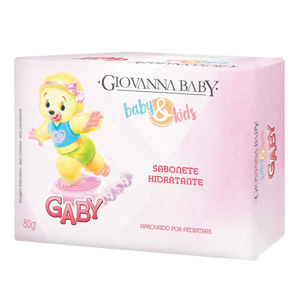 Sabonete em Barra Baby e Kids Gaby Giovanna Baby 80g - CX c/ 24