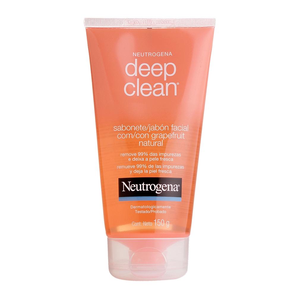 Sabonete Facial NEUTROGENA DEEP CLEAN Gel Grapefruit 150g - CX c/ 6