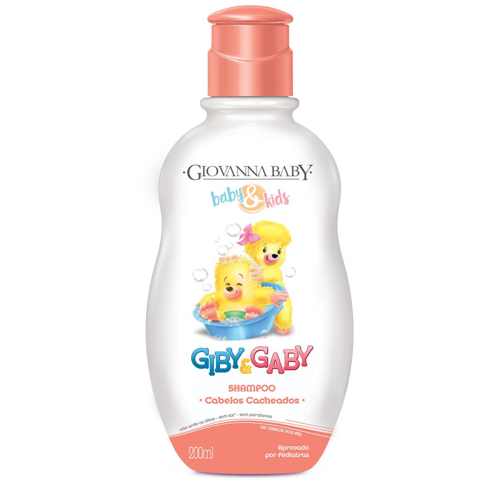 Shampoo Cabelos Cacheados Baby e Kids Giovanna Baby 200ml  - CX c/ 12