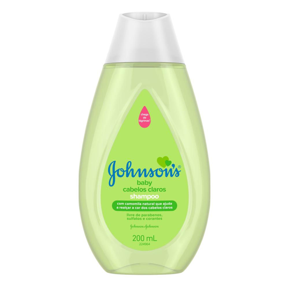 Shampoo JOHNSON'S Baby Cabelos Claros 200ml - CX c/ 12