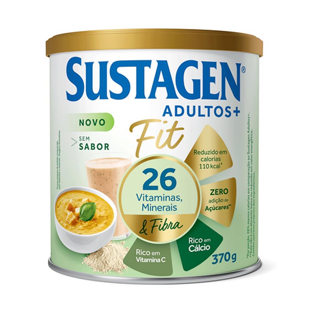 Sustagen Fit Complemento Alimentar Sem Sabor 370g - CX c/ 12