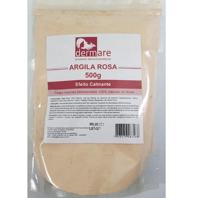 Argila Rosa 500g Dermare 100% Natural - Efeito Calmante