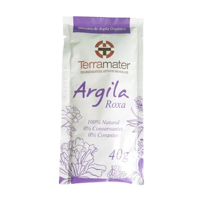 Argila Roxa orgânica e 100% natural (Rejuvenescimento) 40g TERRAMATER