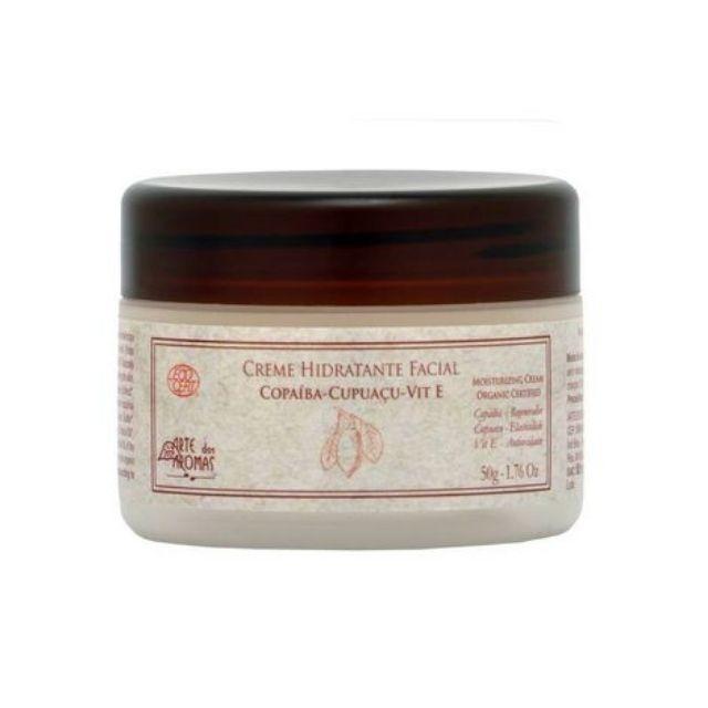 Creme Hidratante Facial Orgânico Copaíba e Cupuaçu 50g Arte dos Aromas