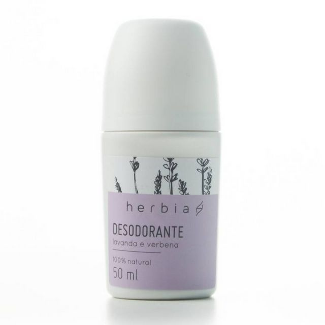 Desodorante ROLL-ON Lavanda e Verbena Branca Natural 50 ml Herbia