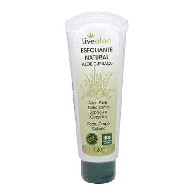 Esfoliante Aloe Cupuaçu Natural e Vegano 120 g Livealoe