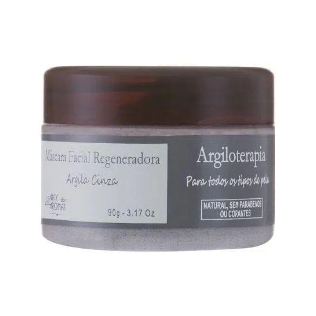 Máscara Facial Natural e Vegana Regeneradora de Argila Cinza 90 g Arte dos Aromas