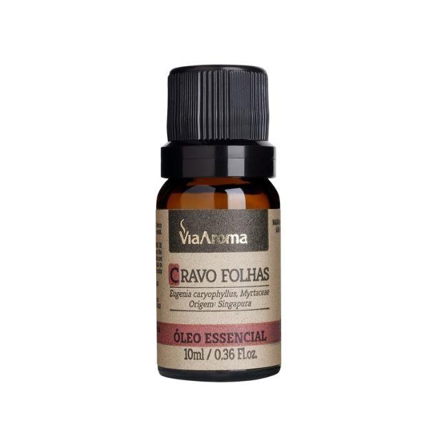 Óleo Essencial de Cravo Folhas Puro Via Aroma - 10 ml