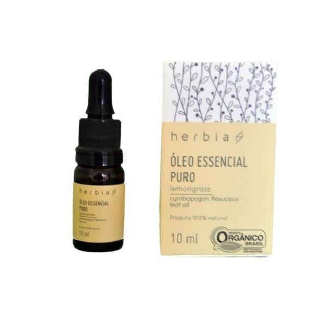 Óleo Essencial de Lemongrass Puro 10ml Herbia