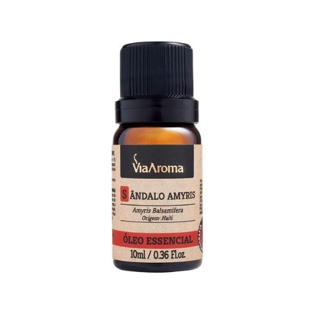 Óleo Essencial de Sândalo Amyris Puro Via Aroma 10 ml