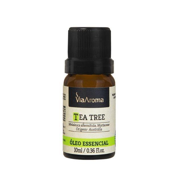 Óleo Essencial de Tea Tree (Melaleuca) Puro Via Aroma 10 ml