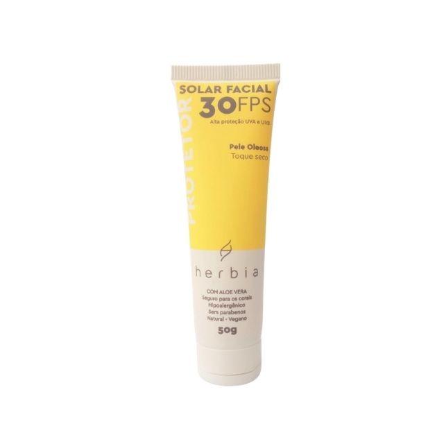 Protetor Solar Facial Natural Peles Oleosas 50g Herbia