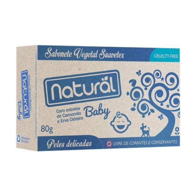 Sabonete Vegetal Camomila e Erva Cidreira Orgânico 80g - Natural