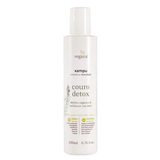 Xampu Couro Detox Melaleuca e Alecrim Orgânico 200 ml - VEGANA