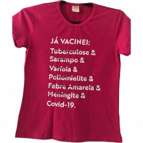 Camiseta 'Já Vacinei' - Babylook