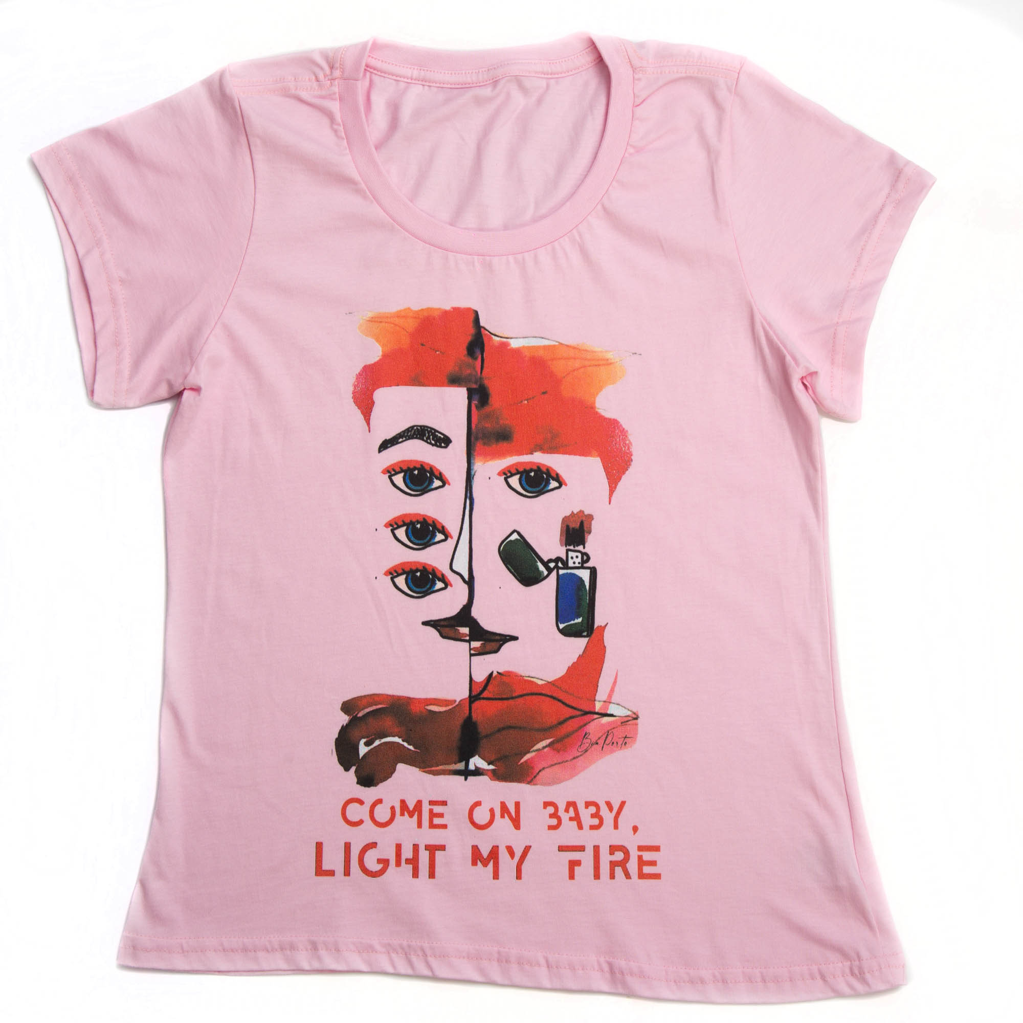 Camiseta Baby Long Light my Fire