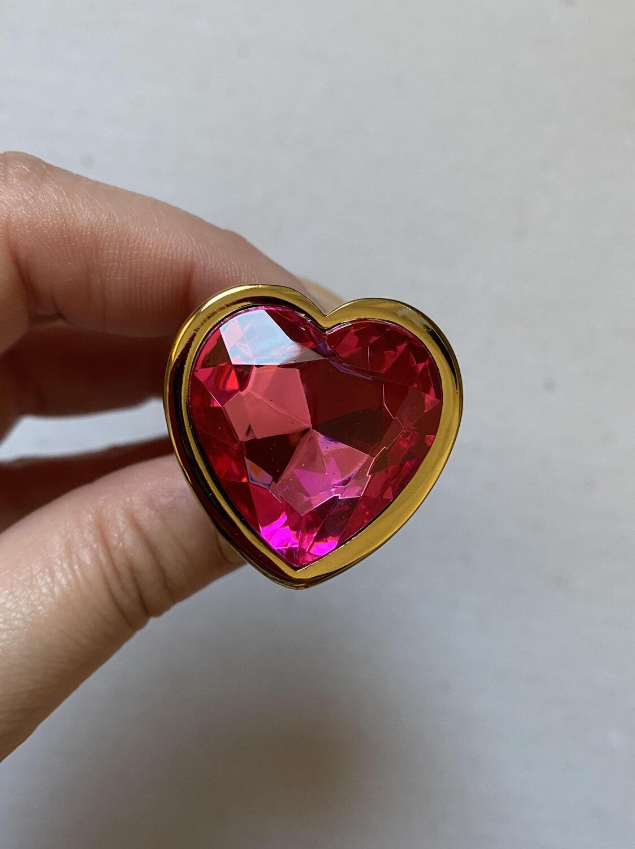 Amor, o Plug Anal formato Coração