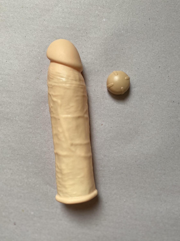 Capa Peniana Vibratória em Silicone 17,5 cm