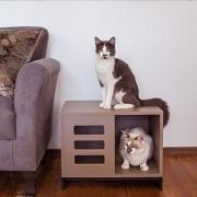 Casinha de Gato ou Cachorro Tipo Mesinha com Furação - Alto Padrão