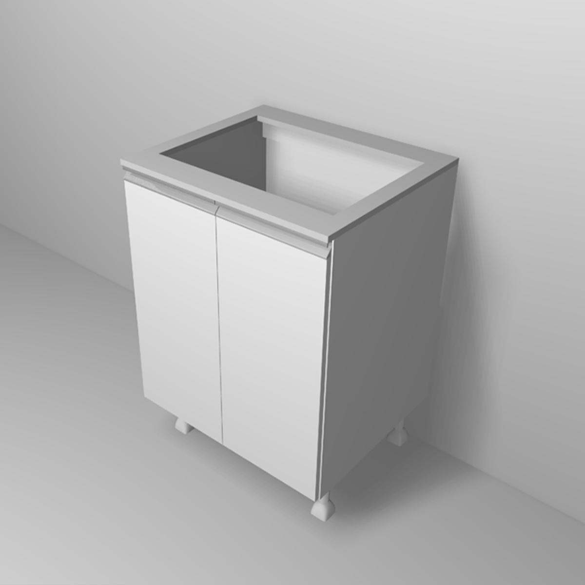 Balcão Para Fogão Cooktop 60cm Cozinha com 2 Portas
