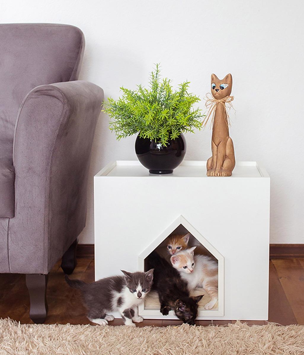Casinha de Gato com Abertura Tipo Casinha
