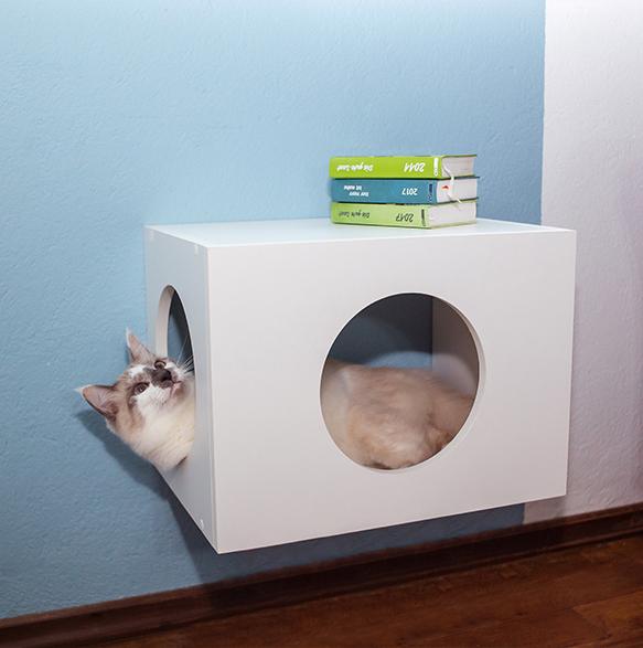 Casinha de Gato Suspensa com Abertura Redonda
