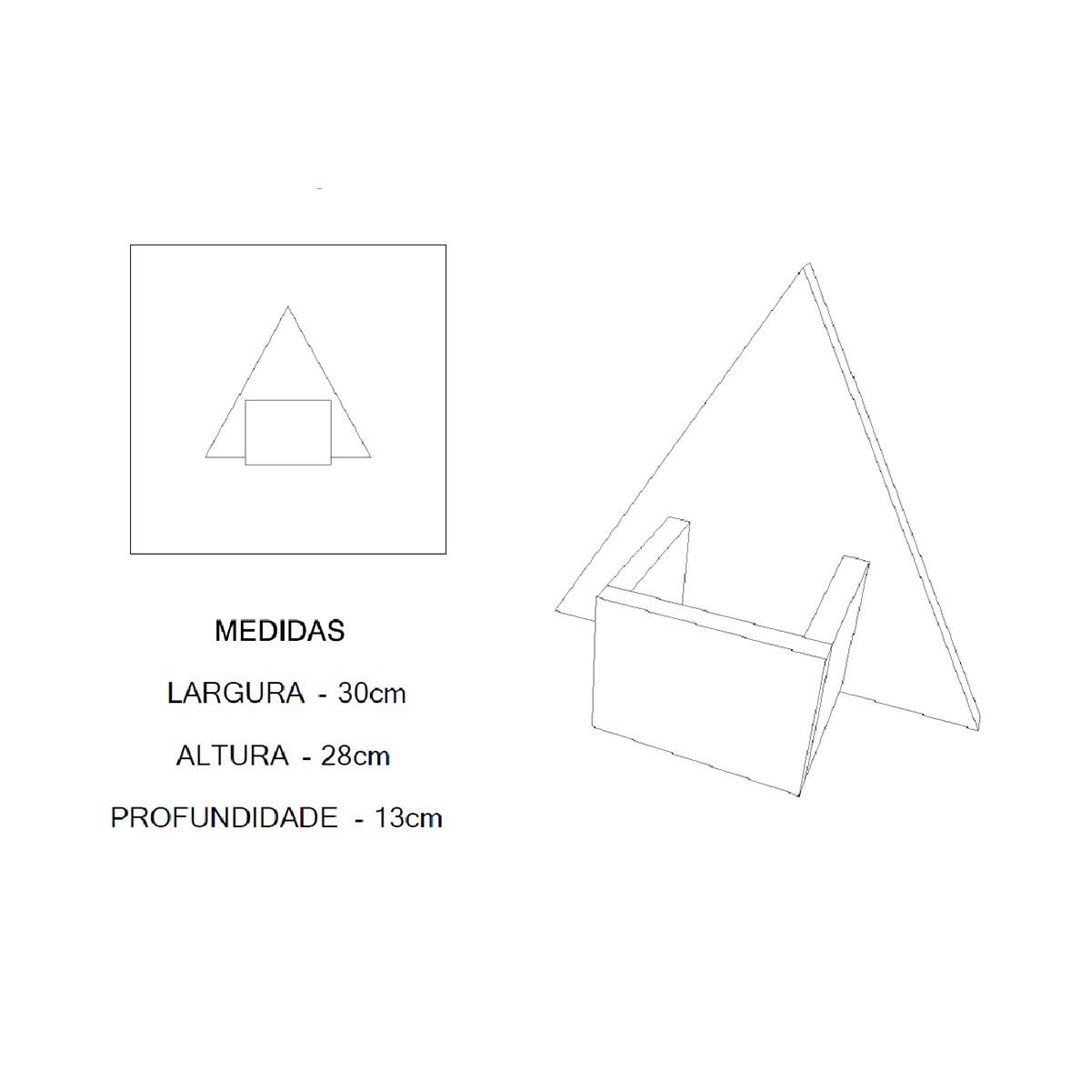 Nicho Triângulo Para Decoração