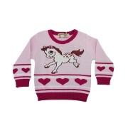 Blusão Infantil Bebê Cavalo Rosa Tamanho M
