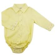 Body Infantil Anita Kids Criações Darvami G Amarelo