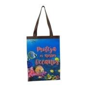 Bolsa Ecobag Tecido 100% Pet Oceano