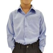 Camisa Infantil Masculina Lisa Azul