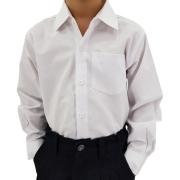Camisa Infantil Masculina Lisa Branca