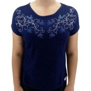Camiseta Feminina Strass Tropilha