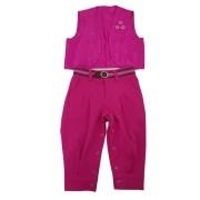 Conjunto Anita Kids Criações Darvami G Rosa Pink