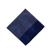 Lenço Carijó Acetinado Médio Azul/Branco