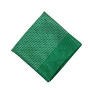 Lenço Carijó Acetinado Médio Verde/Branco