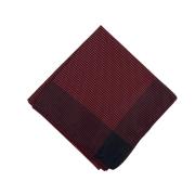 Lenço Carijó Semi Acetinado Grande Vermelho/Preto