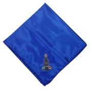 Lenço Cetim Grande Azul Nossa Senhora Aparecida