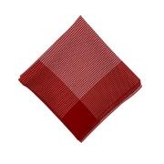 Lenço Médio Carijó Vermelho/Branco