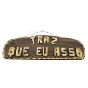 Placa Madeira Decoração**