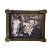 Quadro Tela Digitalizado - Cavalo Amigo