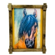 Quadro Tela Digitalizado - Cavalo Franja