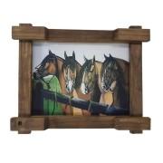 Quadro Tela Digitalizado - Cavalos