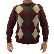 Suéter Masculino Gola Redonda Bordo