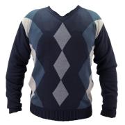 Suéter Masculino Gola V Azul