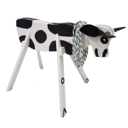 Vaca Parada Madeira Para Laçar Branca
