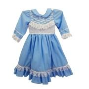 Vestido de Prenda 01 Ano Criações Darvami Azul