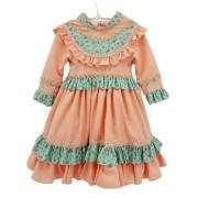 Vestido de Prenda 06 Meses Criações Darvami