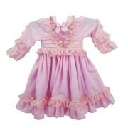 Vestido de Prenda 06 Meses Criações Darvami Rosa