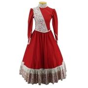 Vestido de Prenda Juvenil 12 Anos Criações Darvami Vemelho/Flor
